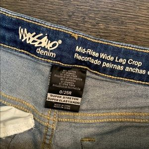 Target Mossino mid rise wide leg crop jeans
